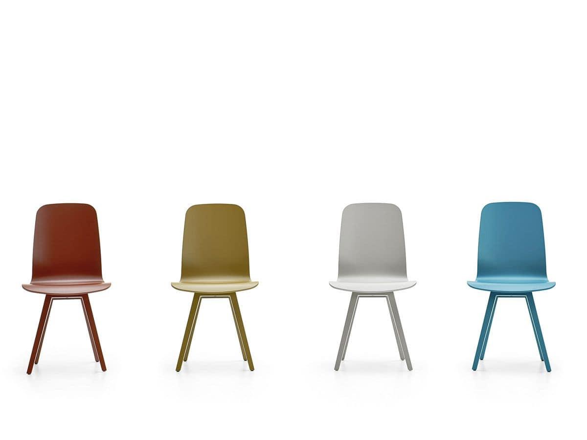 Senia Stuhl, Moderne Sessel, Sockel Aus Lackiertem Stahl, Für Bar Und  Zuhause