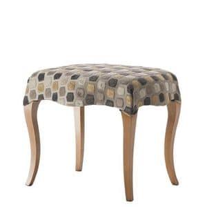 Art. CA729, Klassische Puff, mit Holzbein, gepolsterter Sitz