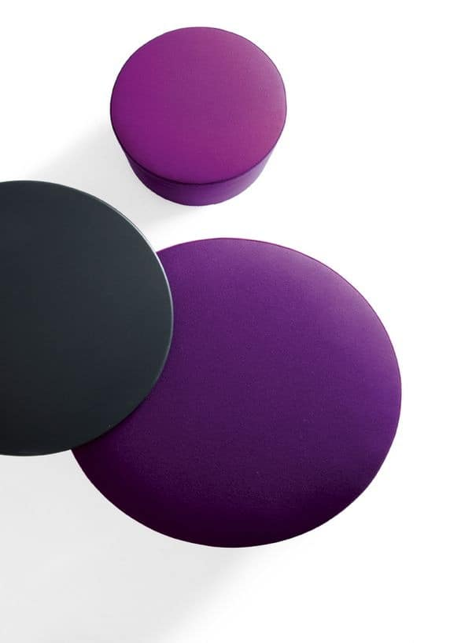 Kroff, Moderne einfarbig Hocker mit Rädern, für Wartebereiche