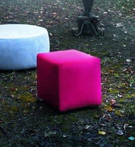 KUBB Sitzpuff, Puff Würfel-förmig mit verschiedenen Beschichtungen erhältlich