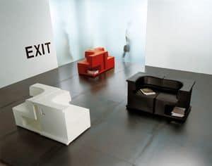 Maxò, Modul-Sessel vollständig in Polyäthylen, für Innen- und Außenbereich