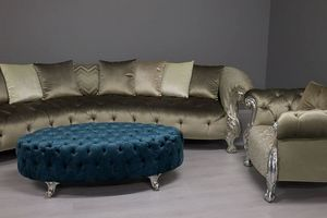 Oceano Footstool, Pouf klassischen Luxus mit capitonné