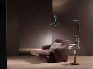 PO49 Morfeo, Sessel mit erweiterbaren Sitz, gepolsterte Polyurethan