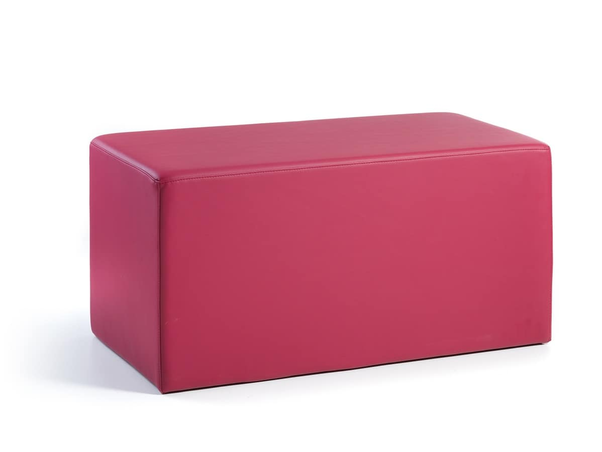 moderner hocker gepolstert in kunstleder f r zuhause geeignet hocker mit gummif en f r. Black Bedroom Furniture Sets. Home Design Ideas