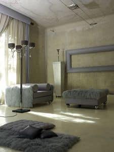 Solitario, Polster Puff für klassische moderne Lounge