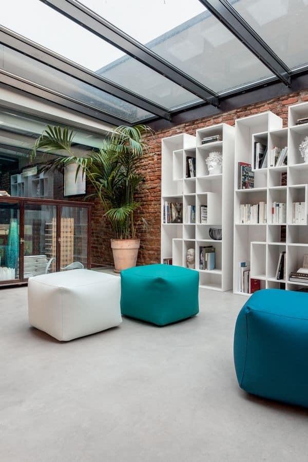 Moderne Hocker für Wohnzimmer, Öko Leder Hocker für Zuhause ...