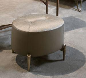 AFRODITE Puff GEA Collection, Ovaler Hocker mit bronzierten Füßen