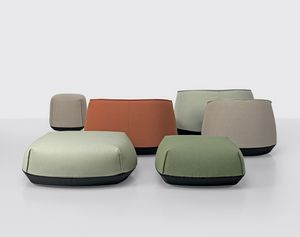 Brioni outdoor pouf, Sitzpuff-Kollektion für den Außenbereich
