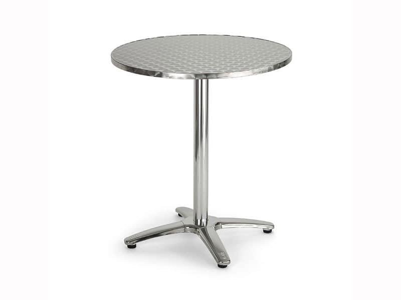 086, Runder Tisch aus Metall für Bars und Restaurants