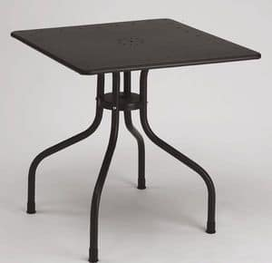 Arturo square table, Platz Metalltisch für Outdoor, 80x80 cm
