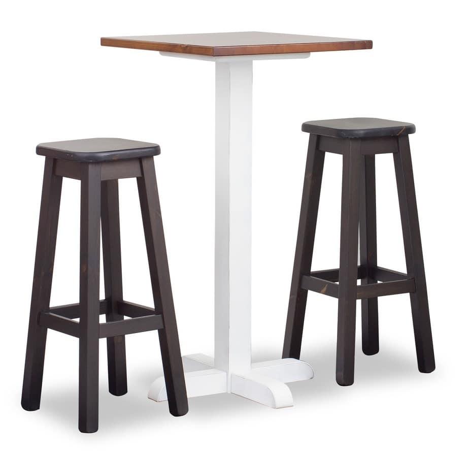 Hoch Turm Bar Tisch 1, Hoher Tisch für Bars und Tavernen, im Pinienwald