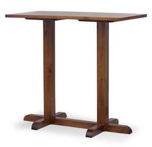 Hoch Turm Bar Tisch 2, Bar-Tisch mit zwei Säulen, ganz in Kiefer