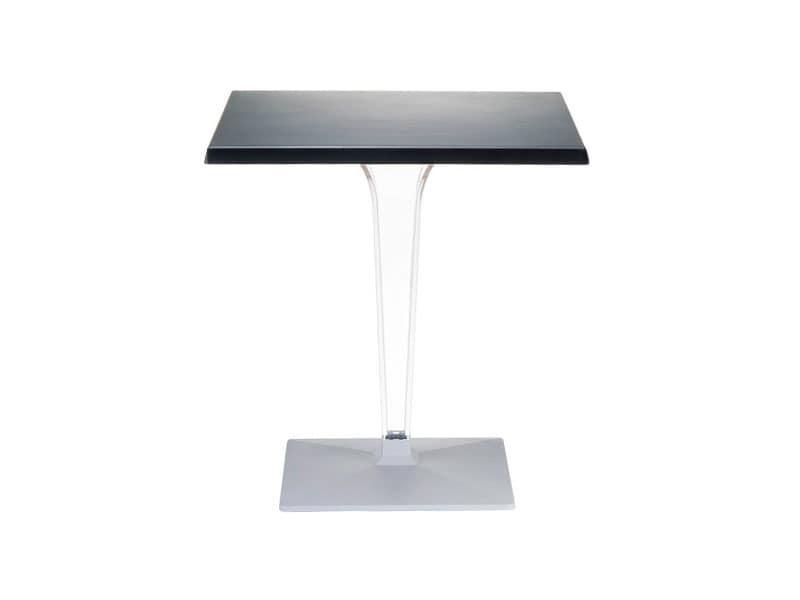 Ice, Tisch für den Außenbereich, in Polycarbonat, für Terrasse