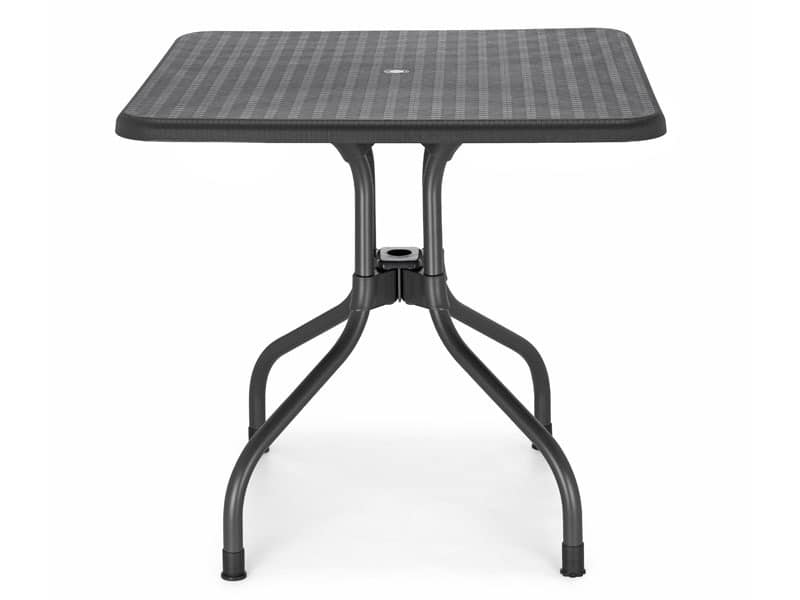 Olimpo kariert, Gartentisch mit klappbarer Platte