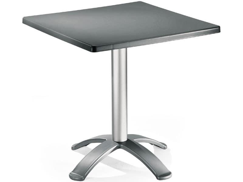 Table 72x72 cod. 06/BG4, Kaffeetisch mit 4 Füßen, für den Außenbereich