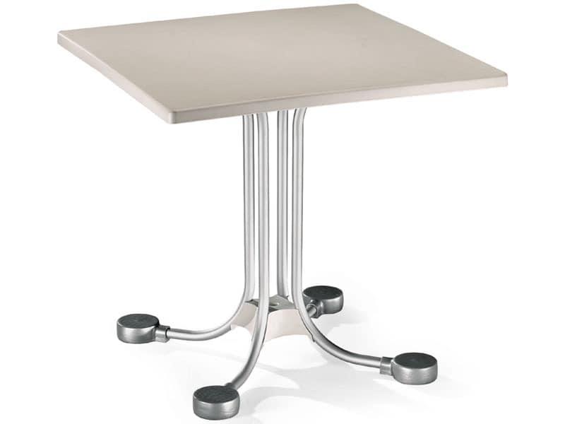 Table 80x80 cod. 23, Bar quadratischen Tisch mit Aluminiumgegengewichte