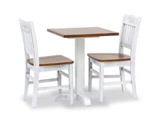 Turm Bar Tisch 1, Hochtisch für Bars, komplett aus Kiefer