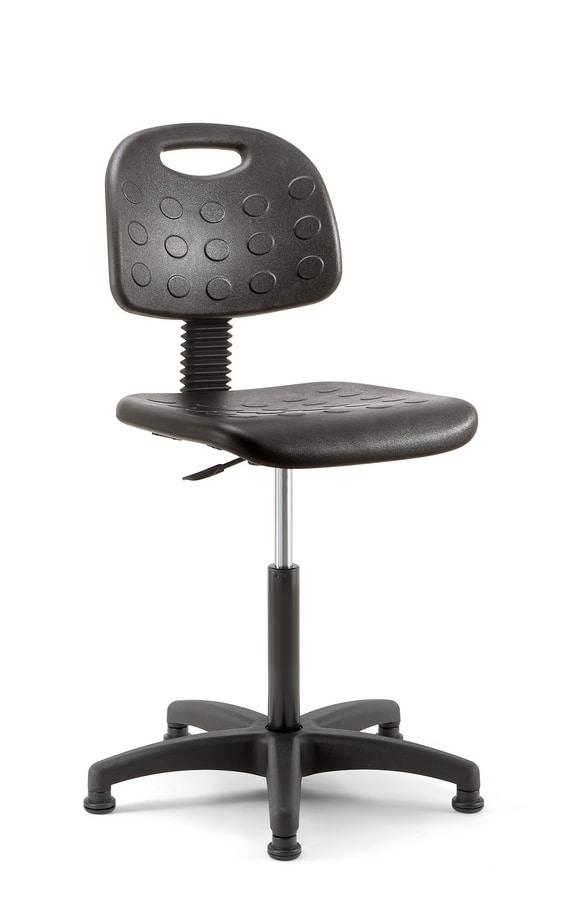 Prema 02, Hocker mit ergonomischen Einstellungen