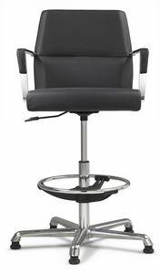 Web Stuhl 10.0103B, Drehhocker für Empfang und Büro