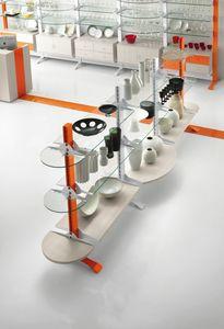 Contemporary - Ausstellungsgondel für Haushaltsgeschäfte, Freistehende Display Gondel für Geschäfte