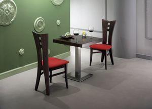 Zeus, Tisch mit furnierter quadratischer Platte