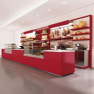 Revolution - Theke mit Display für Bäckerei, Counter für Bäckerei, anpassbar