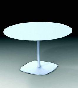 1600 Stylus, Runder Tisch mit Gusseisensockel