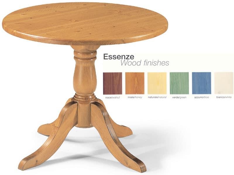 T/420, Runder Tisch ganz aus Holz, für Pubs