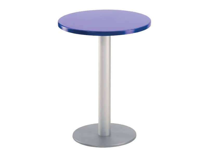 Table Ø 60 cod. 04/BR, Runder Tisch für Bar im Freien