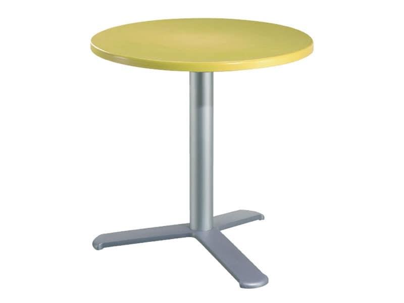 Table Ø 72 cod. 03/BG3L, Stehtisch aus Aluminium und Polymer