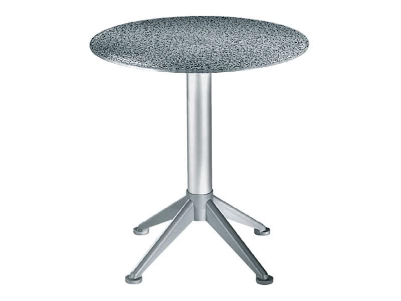 Table Ø 72 cod. 03/BG4AV, Tisch im Freien, aus gehärtetem Glas, für Restaurant