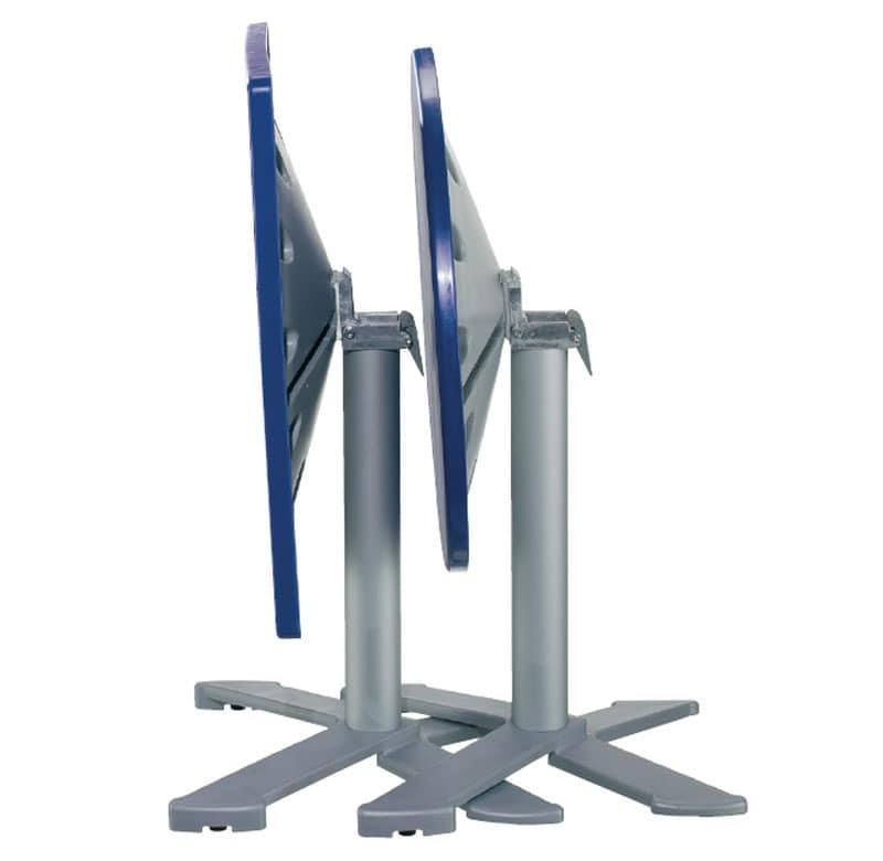 Table 80x80 cod. 23/BG4IP, Folding runden Tisch, Polymer oben