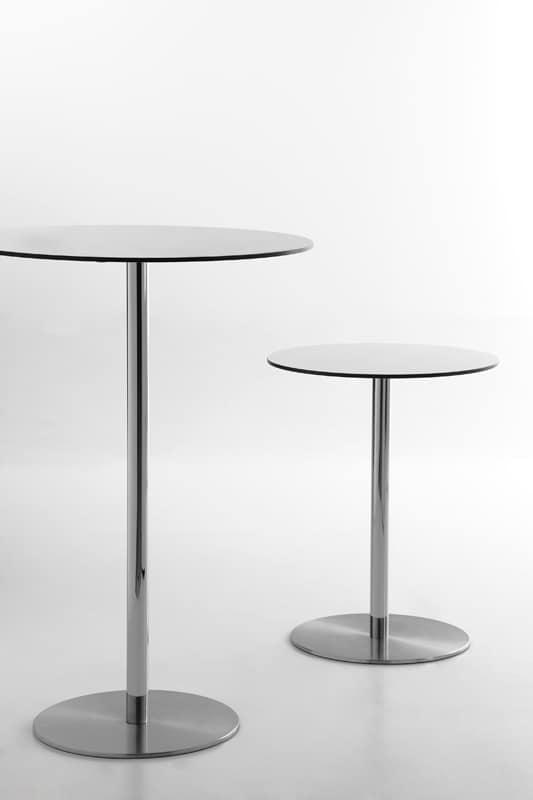 Voilà round h110, Cocktail-Tisch, runde Spitze in HPL-Laminat, geeignet für Kneipe und Bar Mode