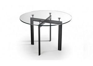 528, Tisch mit runder Glasplatte