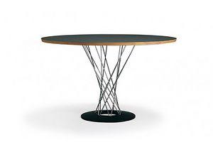 556, Runder Tisch mit Laminatplatte