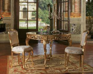 Art. 3067, Tisch im klassischen Stil mit runder Glasplatte