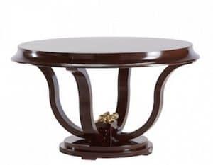 Art. VL119, Runder Tisch für Esszimmer, in lackiertem Holz