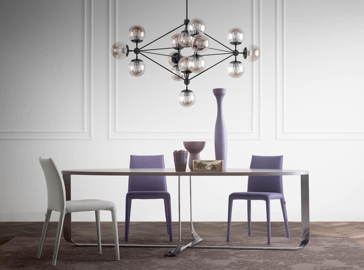 Tische Tische modern Design Metall und Holz rundlich ...