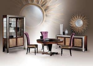 Decò Tre Diningroom, Runder Esstisch, klassischen Luxus-Stil