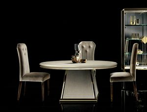 DIAMANTE Runder Tisch, Eleganter Esstisch mit runder Platte