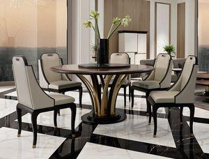 Dilan Art. D05/160, Runder Tisch mit skulpturalem Sockel