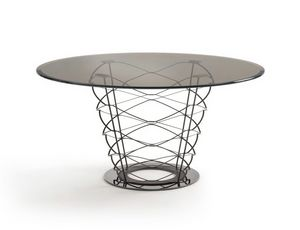 Kerf 40.0700 40.0701, Tisch mit elegantem Metallgestell