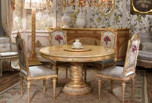 Lariana runder Tisch, Runder Esstisch im klassischen Stil