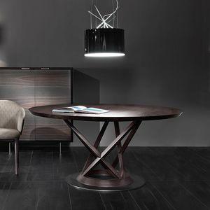 Mandarin Tisch, Runder Tisch mit skulpturaler Basis