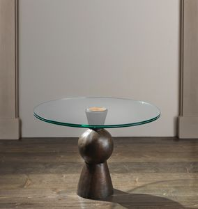 MY DANCER HF2078CT, Niedriger Tisch mit Platte aus gehärtetem Glas