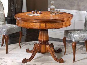 Silvia Tisch, Runder Tisch mit Intarsien