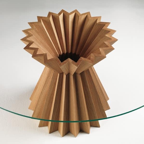 Runder esstisch glasplatte nussbaum idfdesign for Moderne runde tische