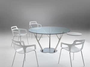 Tree 2, Esstisch mit Glasplatte, mit kleinen Park anwendbar auf jedem Bein