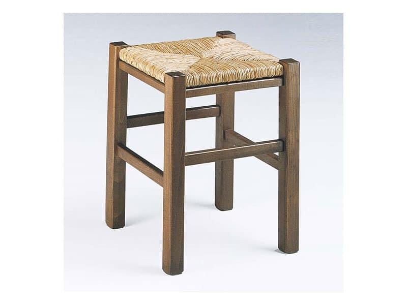 173, Rustic Quadrat hocker, mit Sitzfläche, für die Weinstube