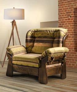New Jersey Sessel, Rustikaler Sessel mit einladenden Formen